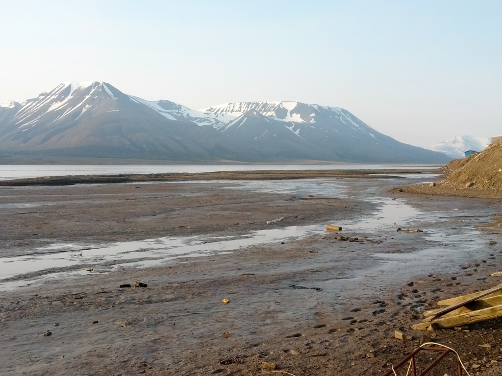 View from the shack on Svalbard