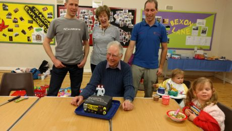 G3VFC with his 70th birthday cake