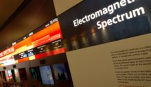 Part of the exhibition, explaining the electromagnetic spectrum
