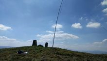 Antenna next to trig point on summit