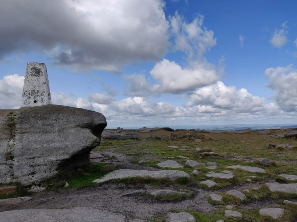 Trig point on stones