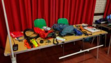 SOTA equipment on a table