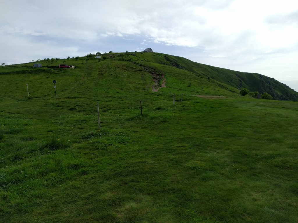 Gently rising hill with path