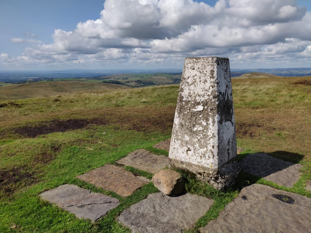 Trig point at Shining Tor