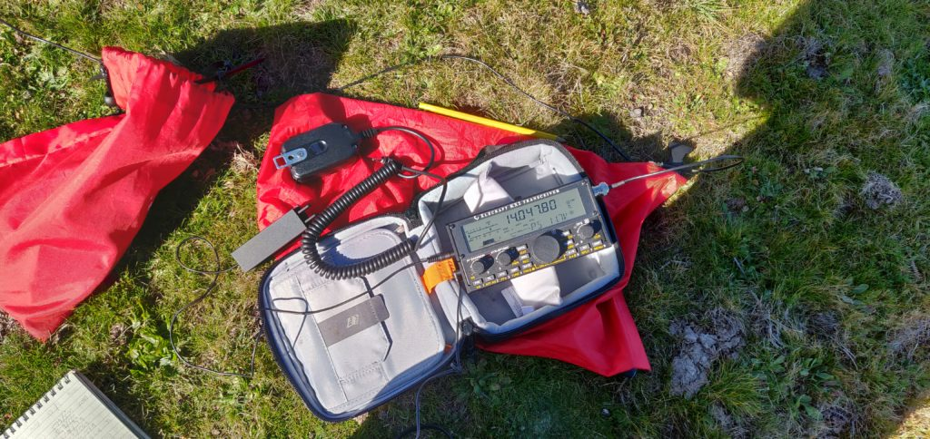 My Elecraft KX2 on Pico Chao dos Terreiros