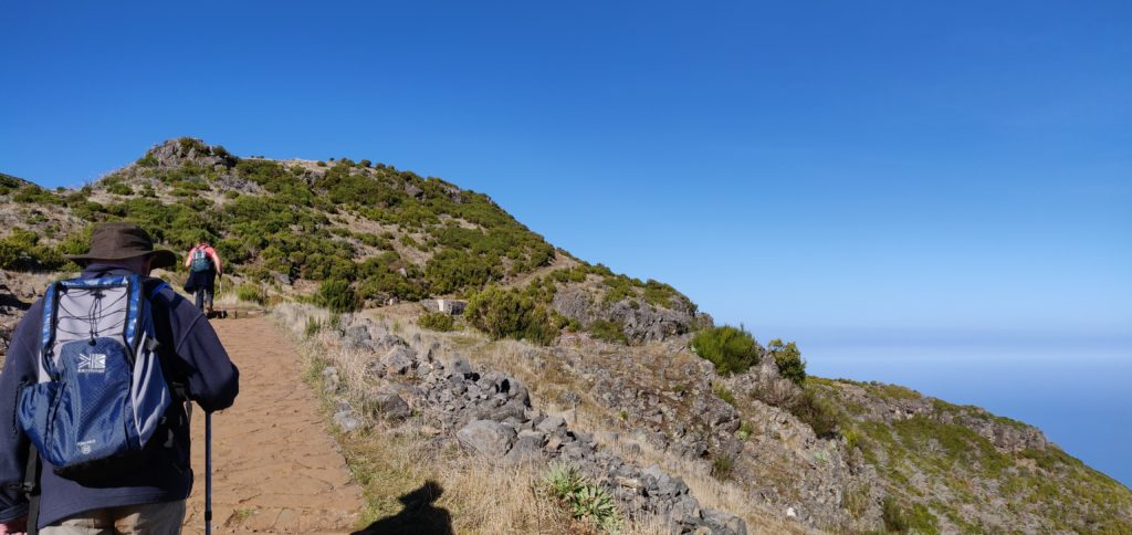 The wide, paved, path leads as far as the Casa do Abrigo