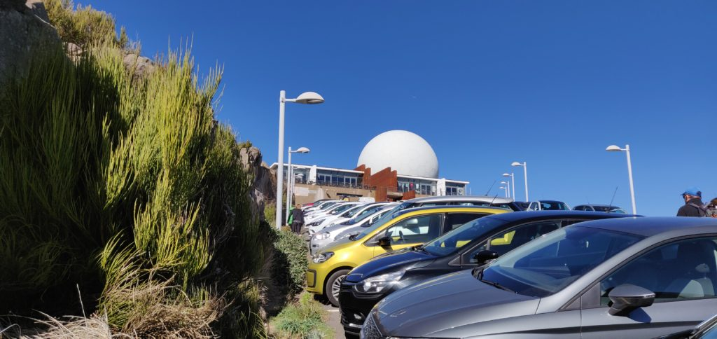 The carpark at Pico do Arieiro